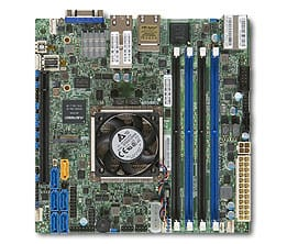 Supermicro board with fan