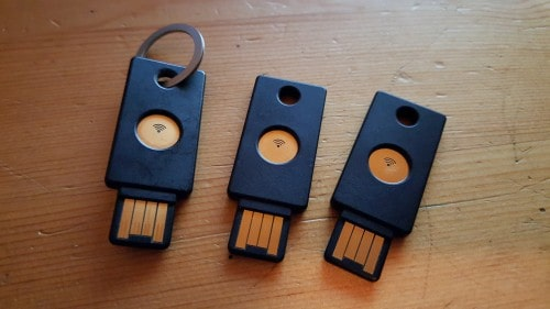 Three YubiKey NEOs