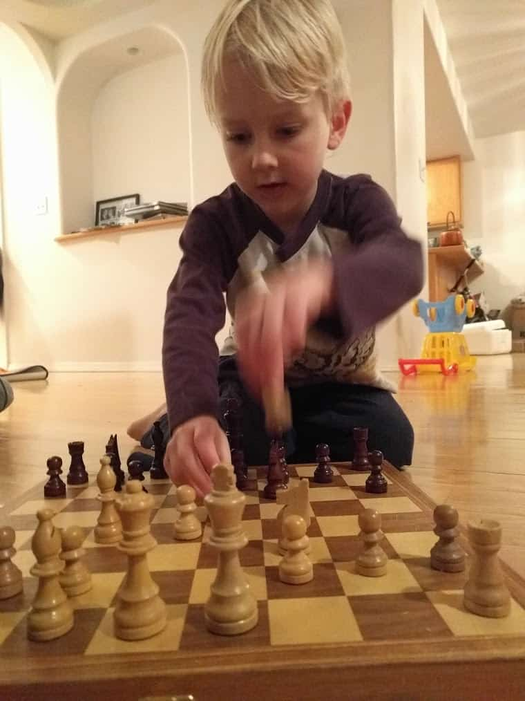 Eli playing Chess
