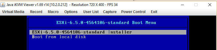 Install ESXi