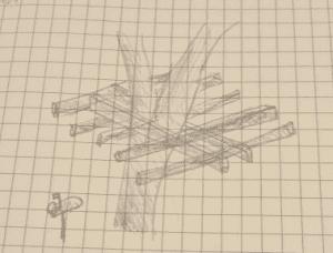 Sketch of treefort design