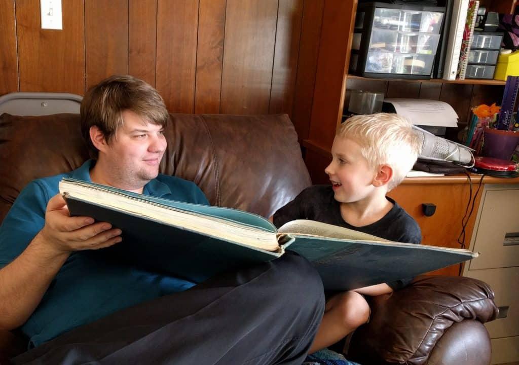 Eli and Jon reading maps