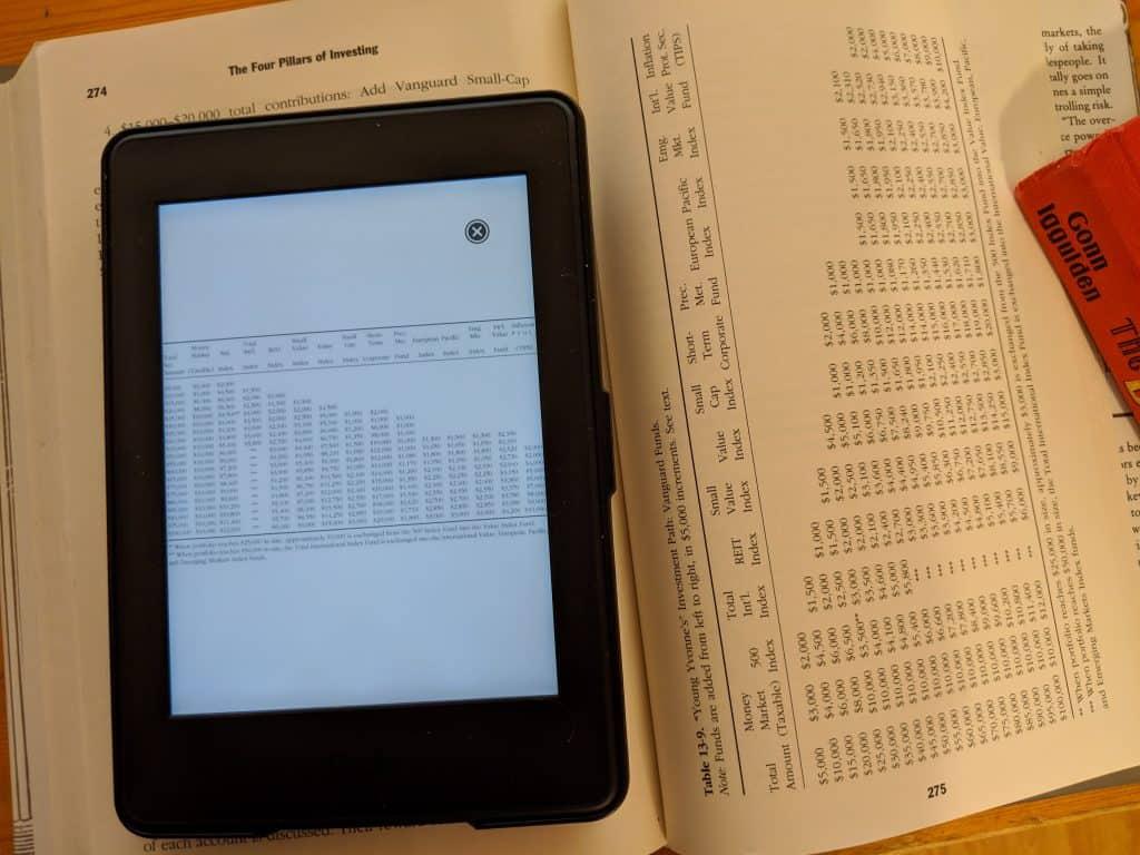 Kindle Table Fail