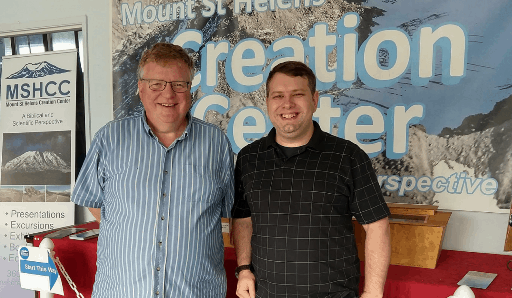 Benjamin Bryan and Paul Taylor at the Mount St. Helens Creation Center