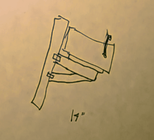 Sketch of snowplow proof mailbox