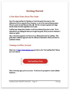 LastPass Guide Sample