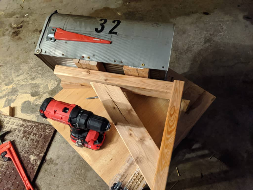 Building a Snow Plow Proof Mailbox