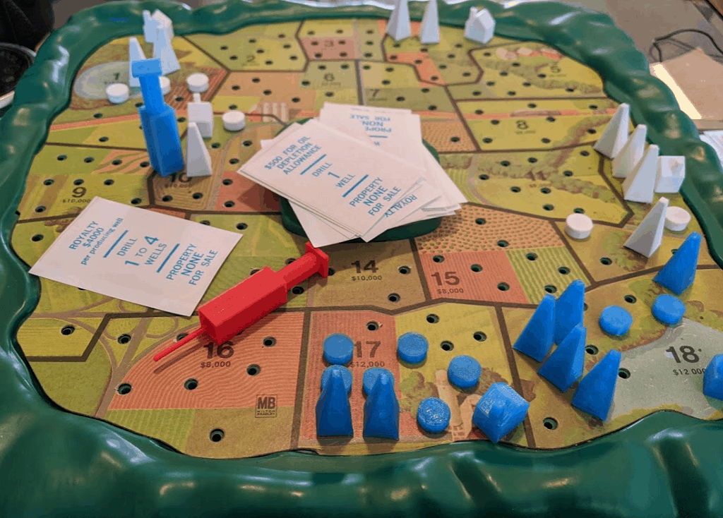King Oil Game with 3D Printed Pieces