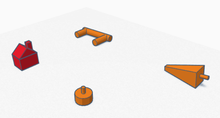 King Oil Pieces designed in Tinkercad