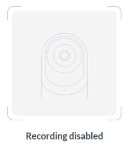 Recording DIsabled Screenshot