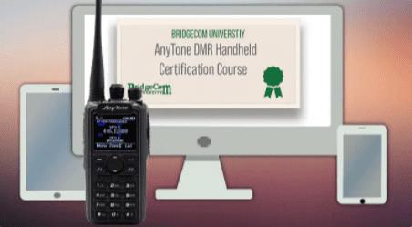 Screenshot of AnyTone DMR Handheld Certification Course